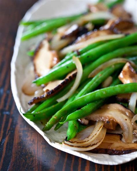 green kitchen recipes green bean and shiitake stir fry steamy kitchen 1426