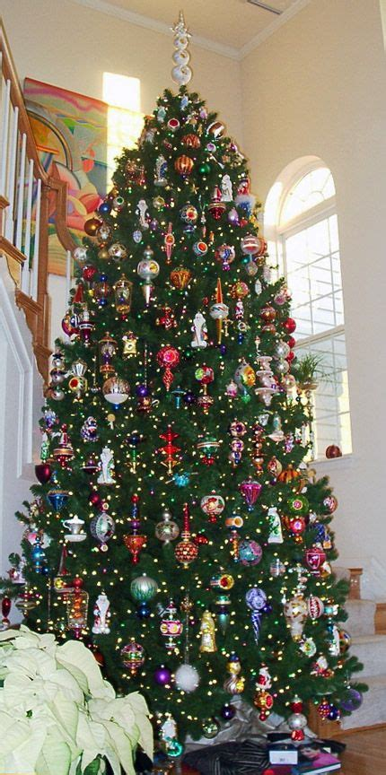 christopher radko ornaments make this tree sparkle