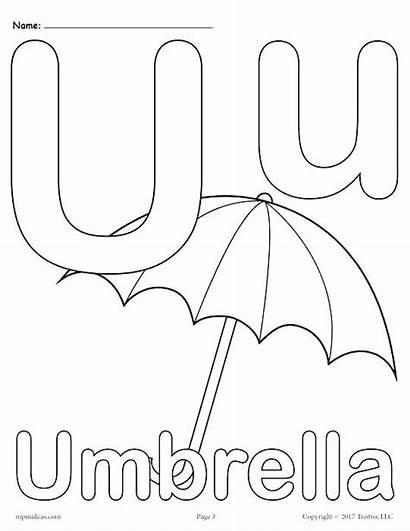 Letter Coloring Pages Alphabet Printable Underwear Preschool