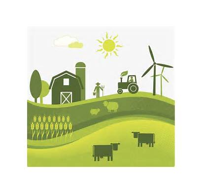 Land Clipart Farm Agriculture Agricultural Flat Wind