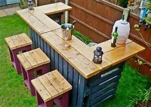 Bar Exterieur En Bois : mod les bars ext rieurs en bois de palette ~ Premium-room.com Idées de Décoration