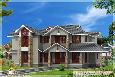 3131 sq. ft. 4 bedroom nice india house design with floor