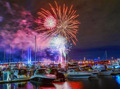 friday night fireworks   docklands     melbourne