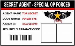 Secret Agent / Spy ID badge. Give everyone at your spy ...