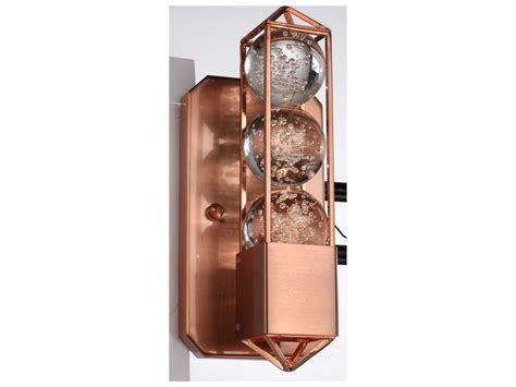 Zeev Lighting Imbrium Brushed Copper Wall Sconce