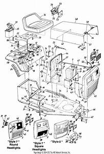 Huskee Riding Mower Parts Diagram  Deck Chute Blade