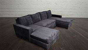 Double chaise sofa lounge double chaise lounge living room for Sectional sofa bed with chaise lounge