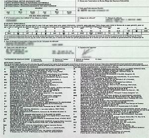 Arreter Une Assurance Voiture : carte verte d assurance auto vierge ~ Gottalentnigeria.com Avis de Voitures