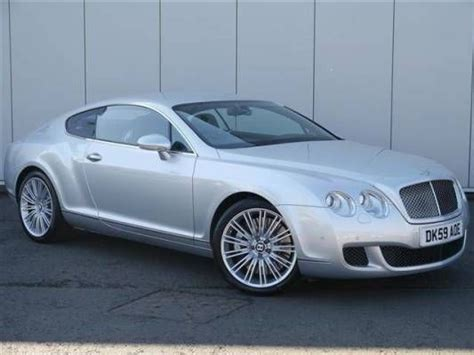 manual cars for sale 2009 bentley continental gt parking system used 2009 59 reg silver bentley continental gt 6 0 w12 speed 2dr auto for sale on rac cars