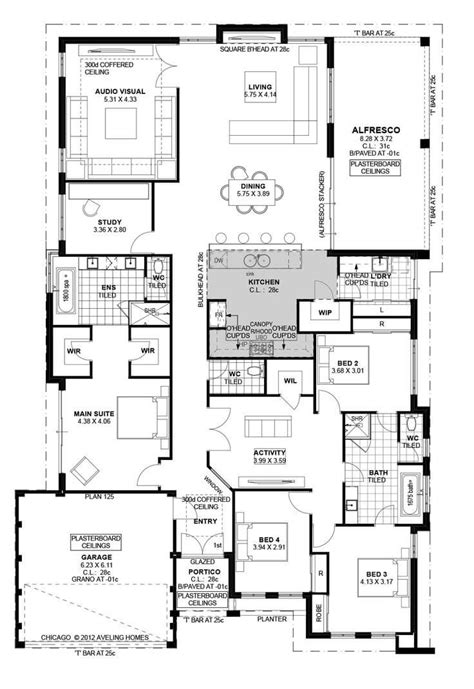 Floor Plan Friday: Family Home with Study