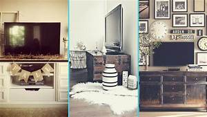 Diy rustic shabby chic style tv stand wall decor ideas