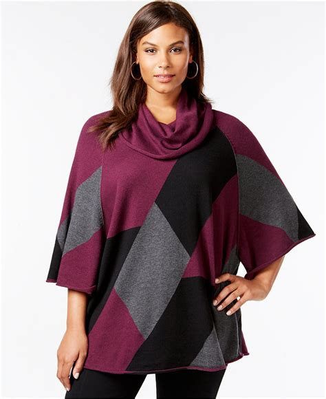 style and co sweaters style co style co plus size cowl neck poncho sweater