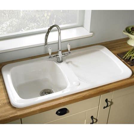 single bowl porcelain kitchen sink astracast aquitaine white ceramic single bowl kitchen sink 7955