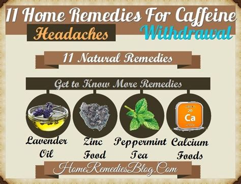 Understanding how caffeine works in your body can help make the detoxification process go smoothly for you. 11 Home Remedies For Caffeine Withdrawal & Headache - Home Remedies Blog