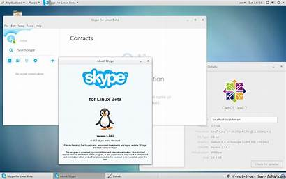 Skype Centos Beta Running False Then True