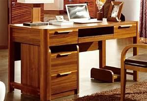 Bureau en bois massif. bureau bois massif en angle 3 tiroirs made in