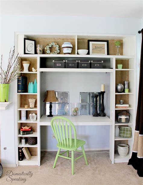 bookcase with desk built in 4 built in desk nook from ikea bookshelf by domestically
