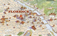 Map of Florence with major Places + Sights   This is Italy