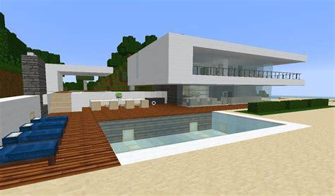 minecraft modern simple beach ocean weekend houseestate