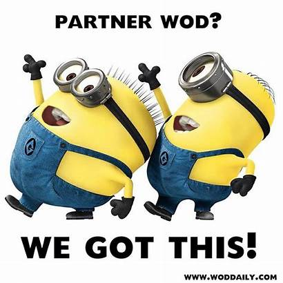Crossfit Partner Wod Minions Funny Workout Saturday