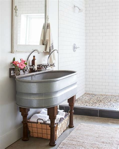 Farm Style Bathroom Sink by 20 Best Farmhouse Bathrooms To Get That Fixer Style
