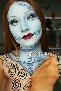 Nightmare Before Christmas Sally Makeup | Christmas Decorating