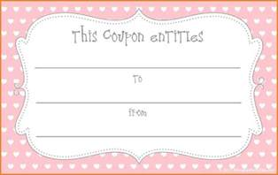 free printable coupon templates template update234
