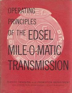 1959 Edsel Owner U0026 39 S Manual Reprint