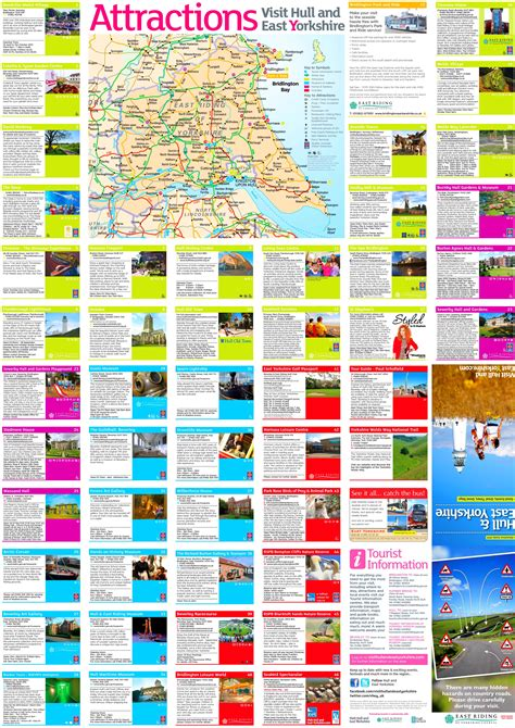 hull  east yorkshire tourist map