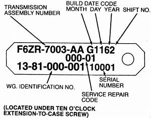 Ford Aod Transmission Identification Numbers