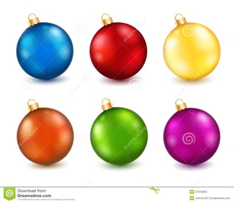 Set Of Color Christmas Balls Stock Vector  Image 27418359