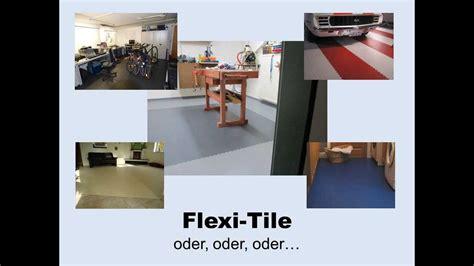 Pvc Bodenbeläge Für Garagen by Flexi Tile Pvc Bodenbelag F 252 R Haus Und Garage