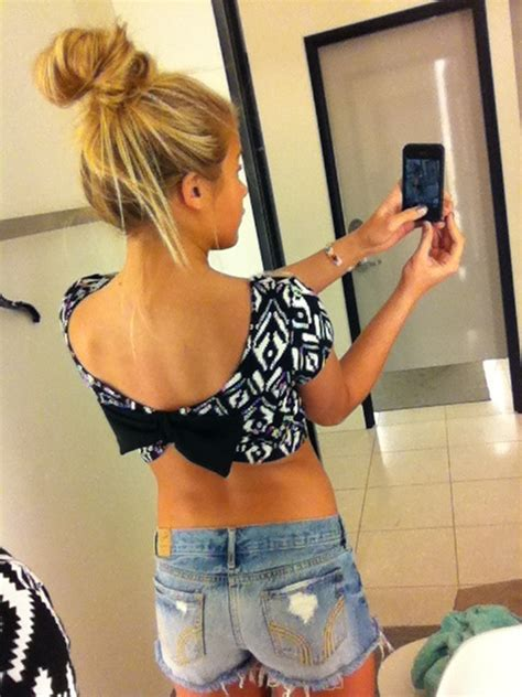 Cute belly bow shirt :)   WANT   Pinterest   Bow shirts