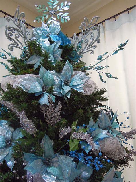 seasontry turquoise  silver christmas tree