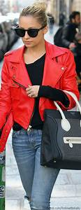Stunning red leather jacket with outfits style ideas (4) - Fashions Fobia For Fashion Lovers