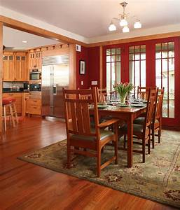 mission style cabinets Kitchen Traditional with cherry