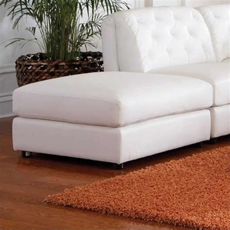 Ottoman Storage White by Coaster Quinn Contemporary Square Leather Storage Ottoman