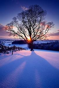 Snow Sunset, Eshton, England photo | discover-wd