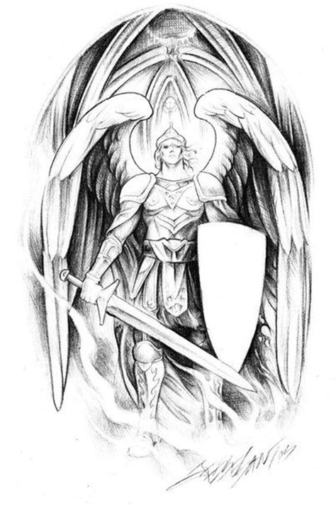 Pin by Gabi Vayman on Tattoo designs   Archangel tattoo, Archangel michael tattoo, Angel warrior