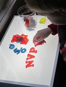everyday light table play teach preschool With light table letters