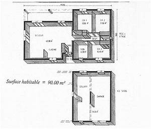 maison 90m2 avec garage sur demi sous sol maisons lm With plan maison demi sous sol