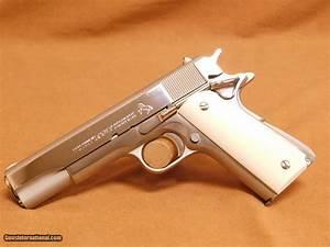 Colt 1911  Nickel  Ivory Grips  Mfg 1970  45 Auto
