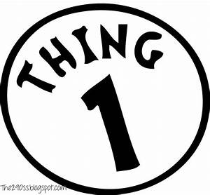 free coloring pages of thing one logo With thing 1 and thing 2 printable template