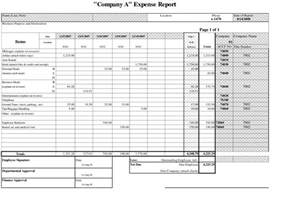 Exle Of An Expense Report by Expense Report Template Http Webdesign14 Com