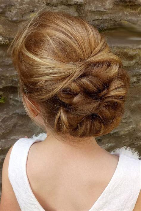 Flower Updo Hairstyles by Flower Hairstyles Bun Swept Back Hairofeden Wedding