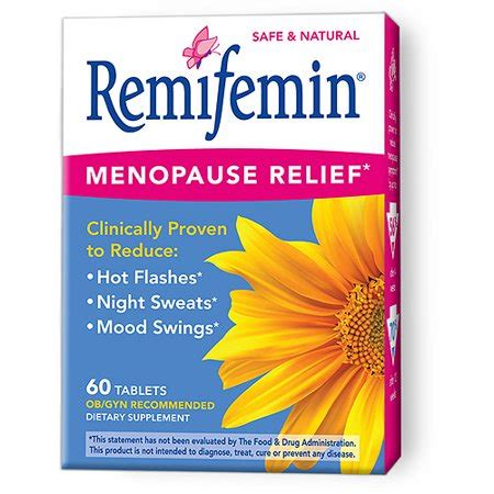 Supplements For Menopause Mood Swings by Remifemin Menopause Perimenmopause Relief 60ct