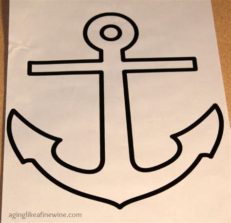 anchor template anchors aweigh nautical creation aging like a wine