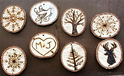 wood burned christmas ornaments allfreechristmascraftscom