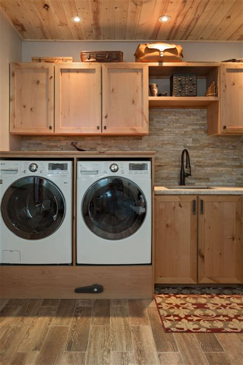 rustic cabinets for laundry room boulder co homes rustic laundry room denver by