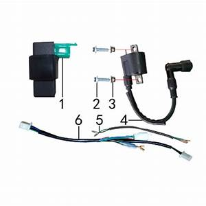 M2r Kxf125 Pit Bike Coil Wiring Loom Connector